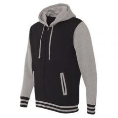 Unisex Varsity Hooded Full-Zip