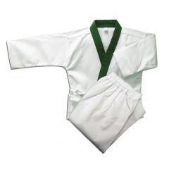 Tang Soo Do Medium Weight Green Trim