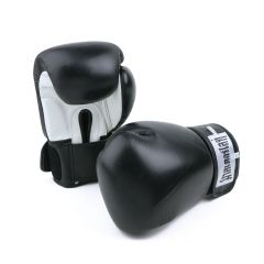 Kick Boxing Velcro Glove - BLACK/WHITE